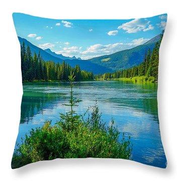 Lake At Banff Indian Trading Post Throw Pillow