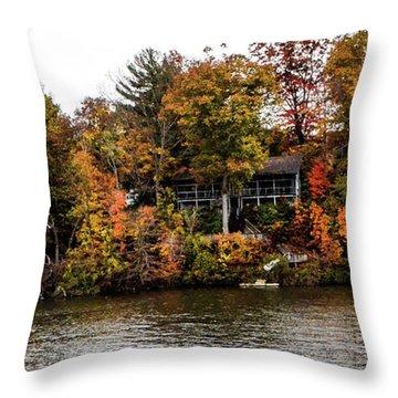 Lake Colors Throw Pillow