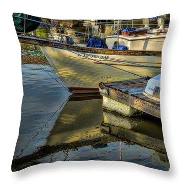 Lake Dardanelle Marina Throw Pillow