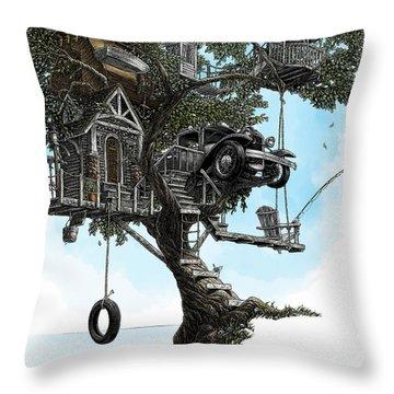 Lake Front Dream House Throw Pillow