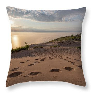 Lake Michigan Overlook 10 Throw Pillow