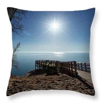 Lake Michigan Overlook 2 Throw Pillow