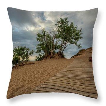 Lake Michigan Overlook 4 Throw Pillow