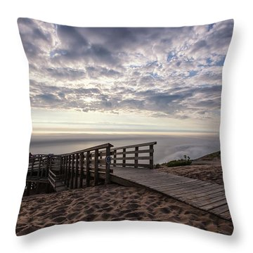 Lake Michigan Overlook 7 Throw Pillow