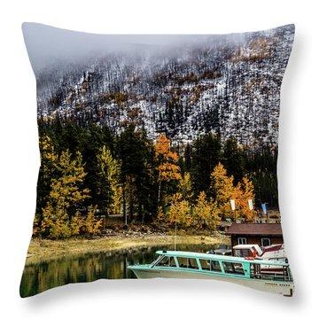 Lake Minnewanka, Banff National Park, Alberta, Canada Throw Pillow