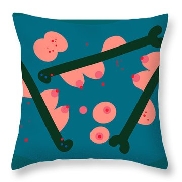 Throw Pillow featuring the digital art Lake Of Mermaids by Attila Meszlenyi