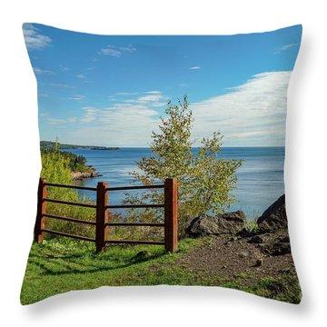 Lake Superior Overlook Throw Pillow