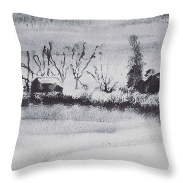 Lakeside View Throw Pillow