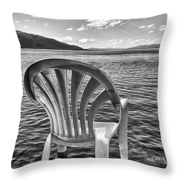 Lakeside Waiting Room Throw Pillow