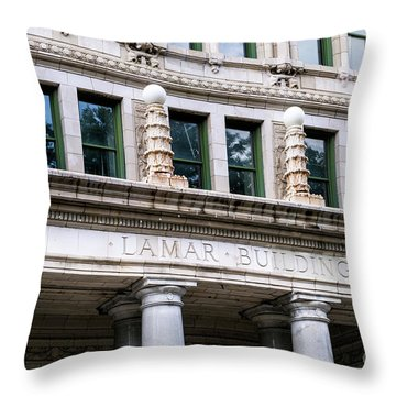 Lamar Building - Augusta Ga Throw Pillow