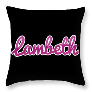Throw Pillow featuring the digital art Lambeth #lambeth by TintoDesigns