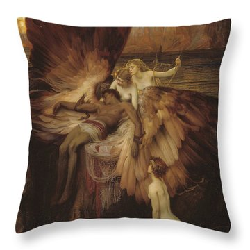 Lament Of Icarus Throw Pillow