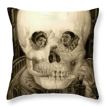 L'amour De Pierrot, 1905 Throw Pillow
