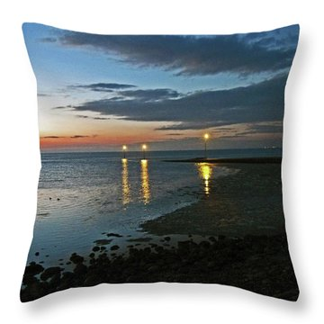 Lancashire. Knott End. Sunset.. Throw Pillow