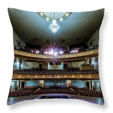 Landers Theatre Stage View Throw Pillow