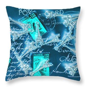 Landmark Love Letter Throw Pillow