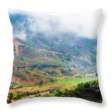 Landscape In Vietnam Throw Pillow