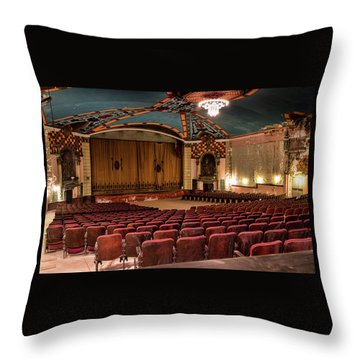Throw Pillow featuring the photograph Lansdowne Theater by Kristia Adams