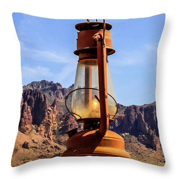 Lantern Over Superstitions Throw Pillow