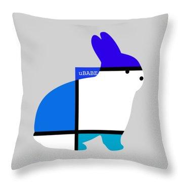 Lapin Agile Blue Throw Pillow