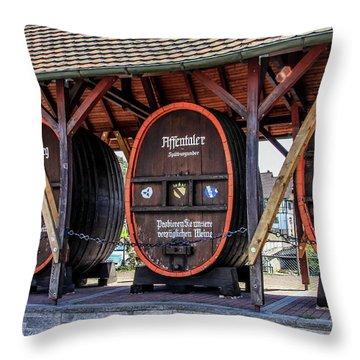 Large Wine Casks Throw Pillow