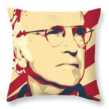 Larry David Resist Throw Pillow
