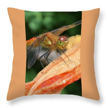 Larry The Dragonfly Throw Pillow