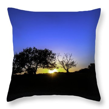 Last Light Texas Hill Country Paradise Canyon Sunset 8053a Throw Pillow