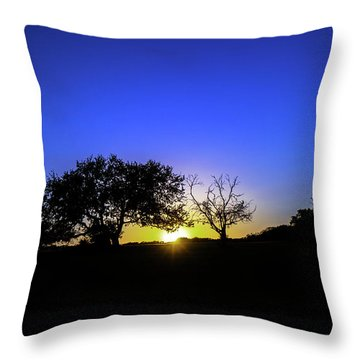 Last Light Texas Hill Country Paradise Canyon Sunset 8053a1 Throw Pillow