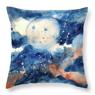 Last Nights Magic Moon Throw Pillow