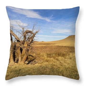 Throw Pillow featuring the photograph Last Stand by Carl Young