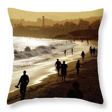 Throw Pillow featuring the photograph Late Afternoon Stroll by Quality HDR Photography
