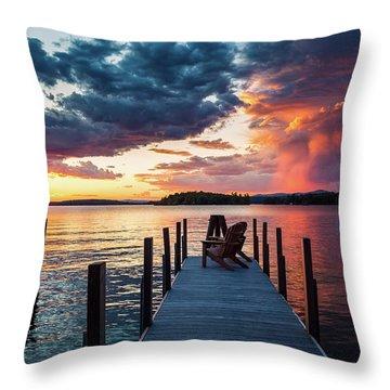 Late Summer Storm. Throw Pillow