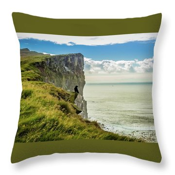 Latrabjarg Cliffs, Iceland Throw Pillow