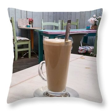 Latte Time Throw Pillow