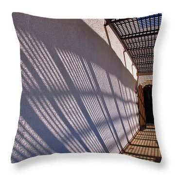 Lattice Shadows Throw Pillow