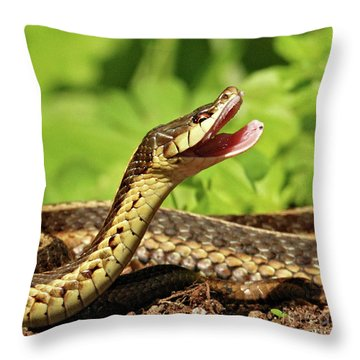 Laughing Snake Throw Pillow