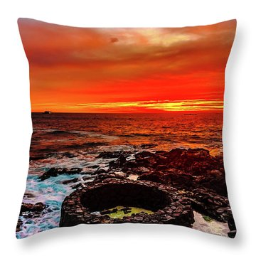 Lava Bath After Sunset Throw Pillow