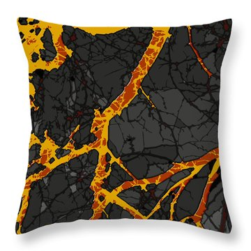 Lava Dream Throw Pillow