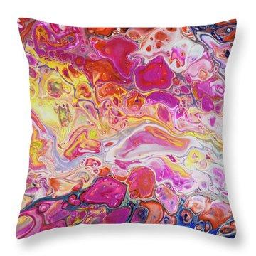 Lava Field II Throw Pillow