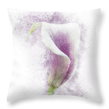 Lavender Calla Lily Flower Throw Pillow