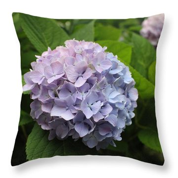 Lavender Hydrangea, Cape May Throw Pillow