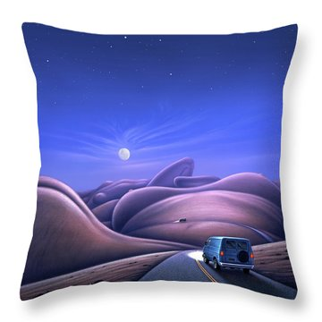 Lay Of The Land Throw Pillow