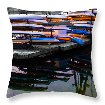 Layers And Layers By The Water Throw Pillow
