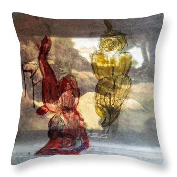 Laying Your Psychopathic Soul Bare Throw Pillow