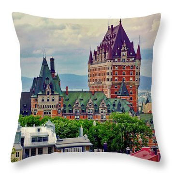 Le Chateau Frontenac Throw Pillow