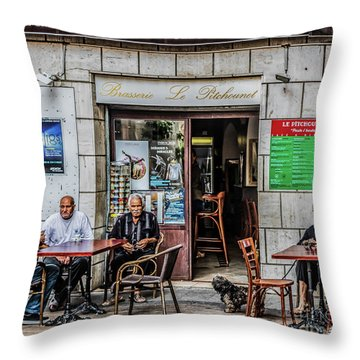 Le Pitchounet Brasserie Throw Pillow