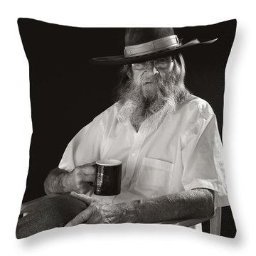Throw Pillow featuring the photograph Le Poete by Ron Cline