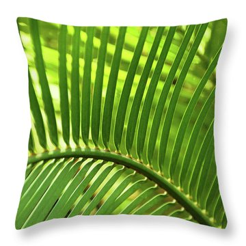 Throw Pillow featuring the photograph Leaf Abstraction I by Leda Robertson