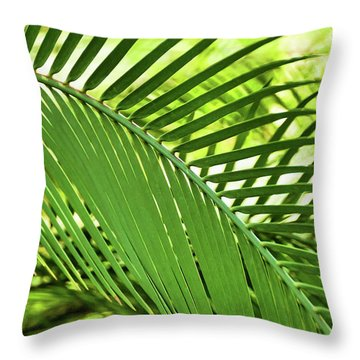 Throw Pillow featuring the photograph Leaf Abstraction II by Leda Robertson